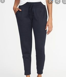 NWT! Old Navy Midrise Go Dry Joggers! Navy Blue!